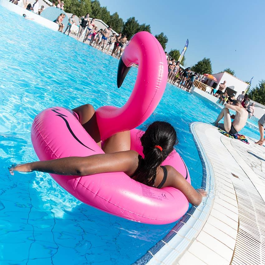 bouée piscine du camping en vendée