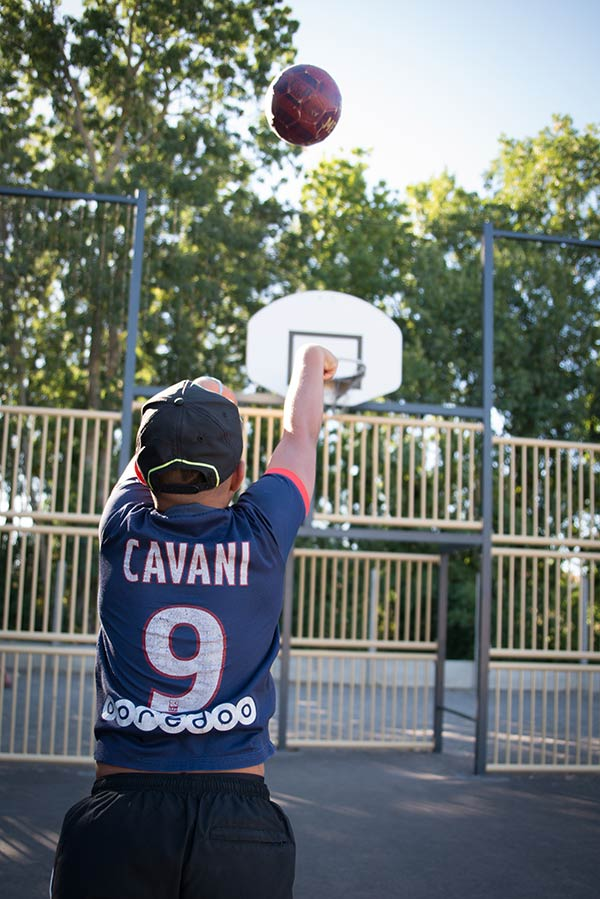 basket-ball au camping