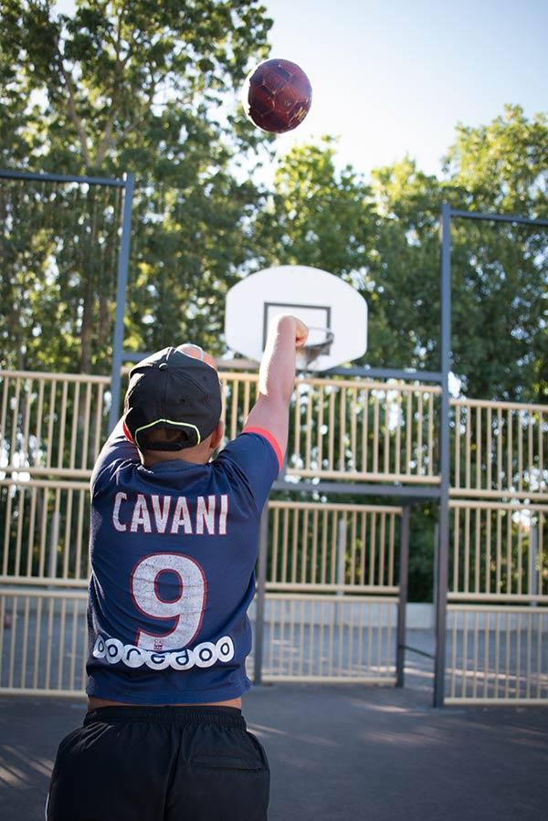 basket-ball au camping