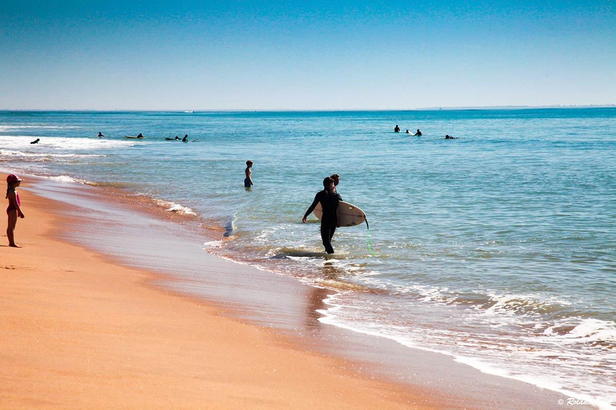 la Tranche sur Mer cours de surf