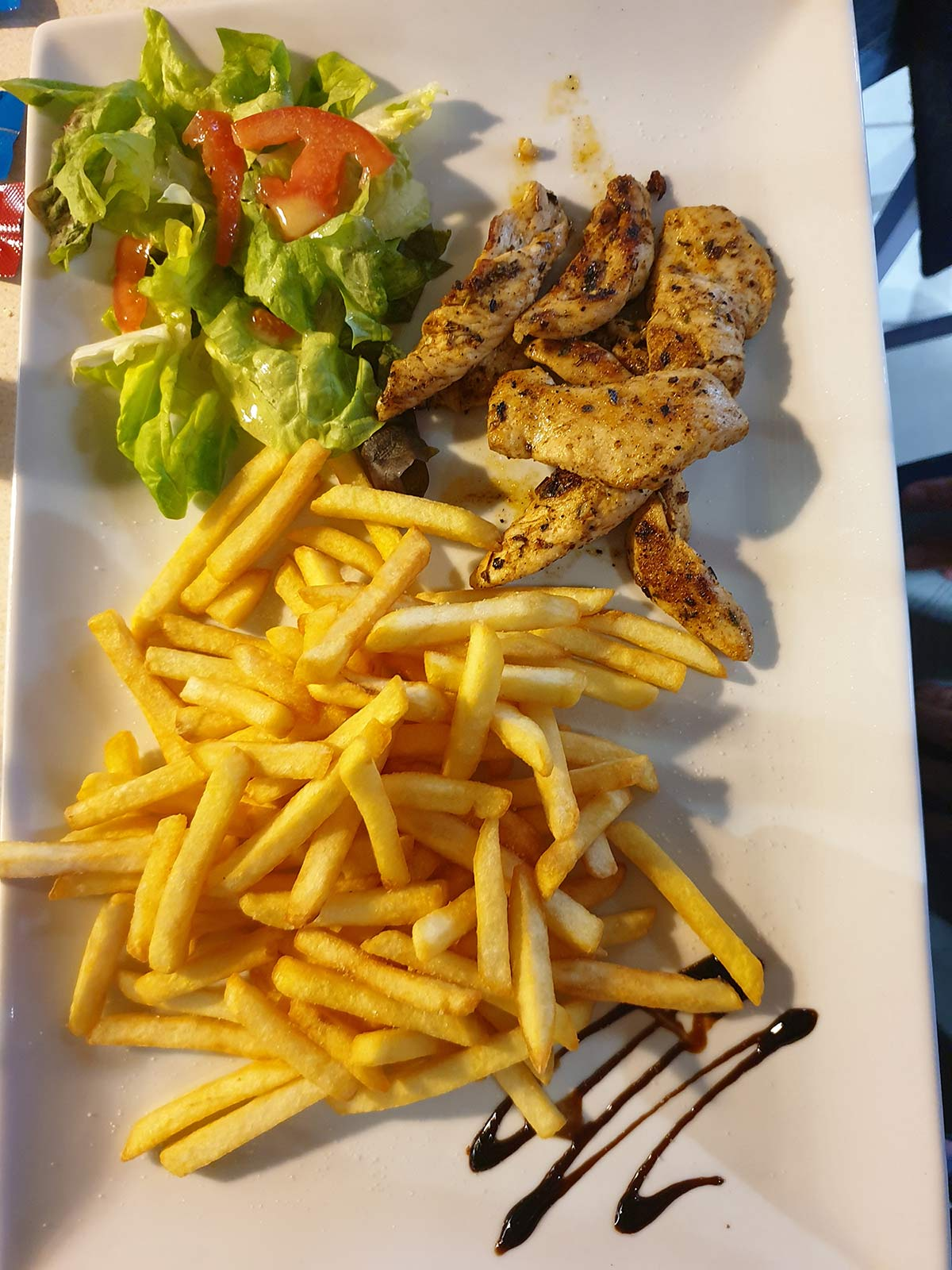Poulet frites snack