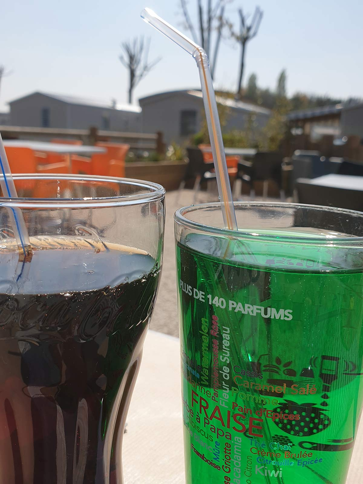 boissons au bar du camping