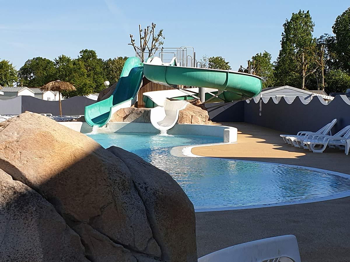 camping avec toboggan aquatique