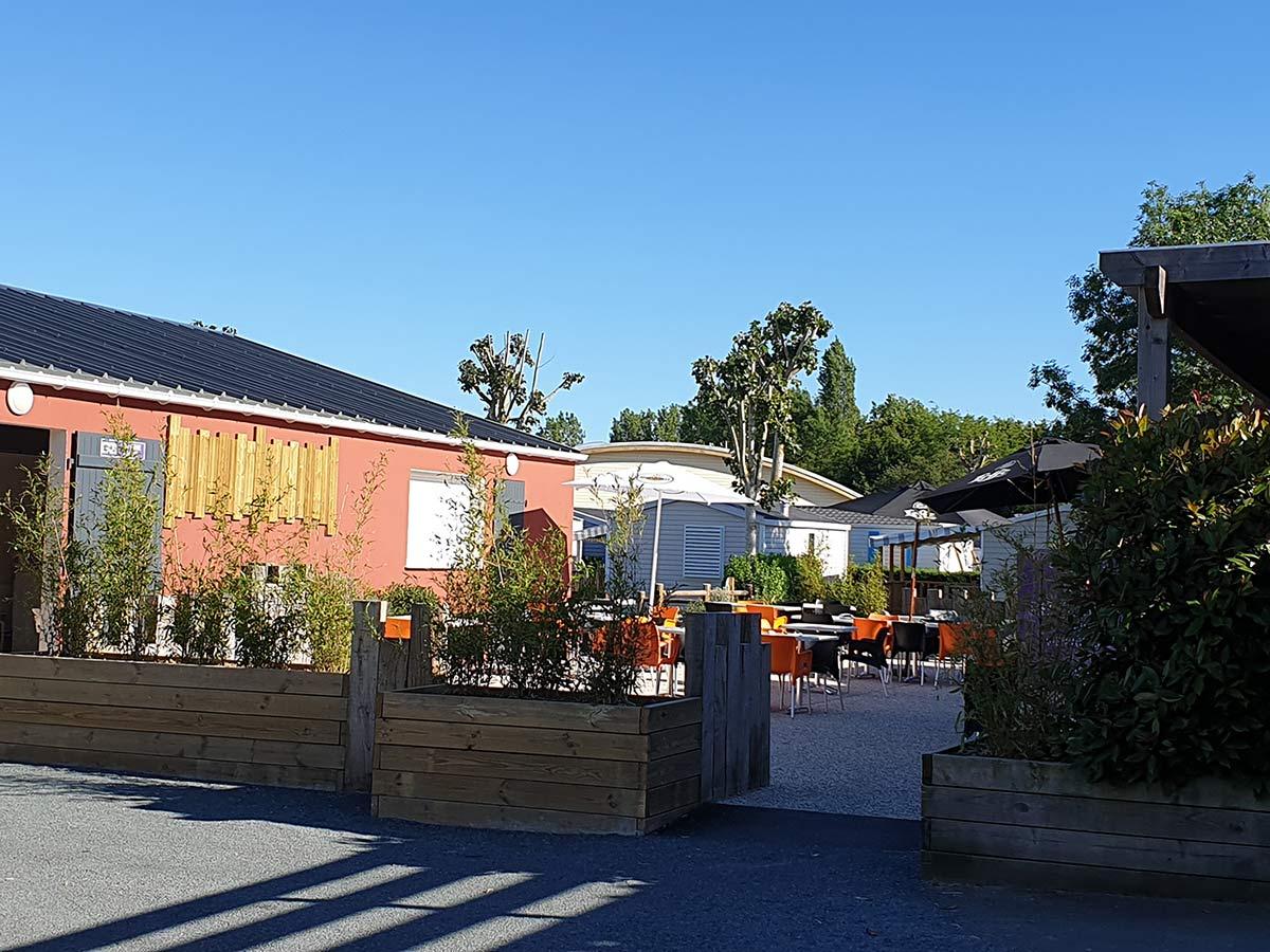la terrasse du snack-bar